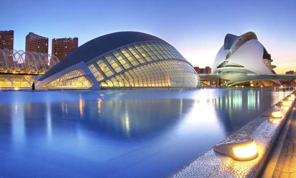 Valencia, Spain - May 4: Annual Opening of the Hemisferic and Palau de Les Arts on May 4, 2009 in Valencia, Spain